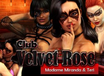 Adult browser flash game called Club Velvet Rose