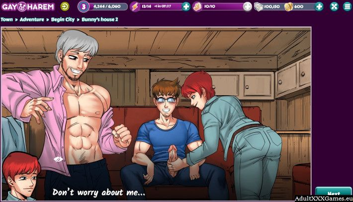 Gay Harem is a free gay porn game online and it works on every kind of phone and PC