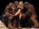 Naked slave celeb fucked by cruel trolls