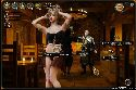 Naughty barmaid dances for the inn visitors